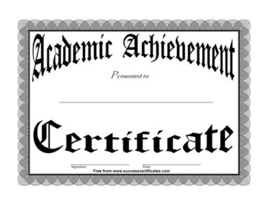 Certificates templates achievement certificates templates yadclub Image collections
