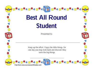 Best all round student award for keeping up good effort best all round student award for keeping up good effort yadclub Images
