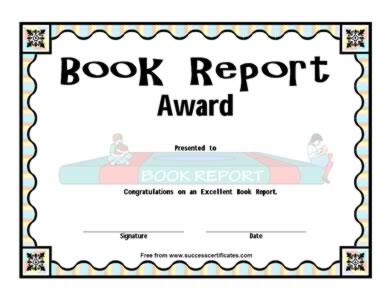 making an award certificate