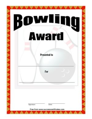 bowling certificates template free - bowling award 2 certificate templates teachers