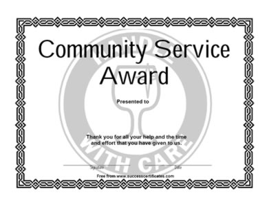 Certificate To Provide Community Services