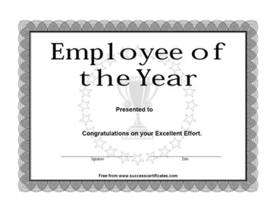 Employee of The Year Achievement Award – Two