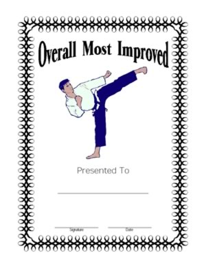 most improved certificate one certificate templates teachers