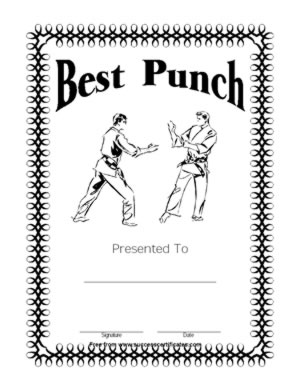 martial arts certificates   free printable certificate templates