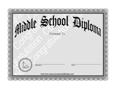 Photos Of Middle School Diploma