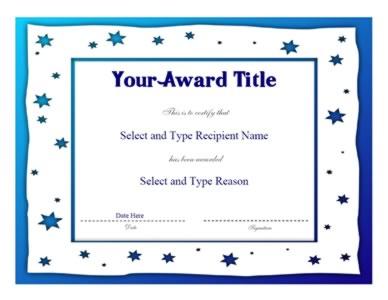 Blue shaded border blank award template certificate templates blue shaded border blank award template yadclub Choice Image