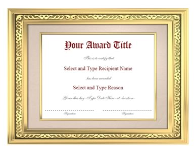Gold border award certificate template certificate templates gold border award certificate template yadclub Image collections