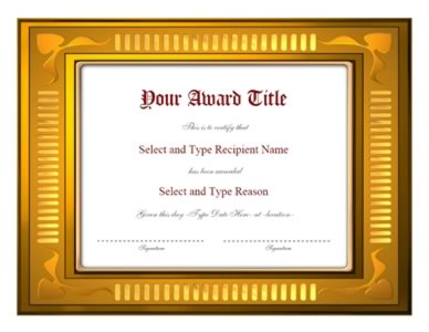Brown And Gold Border Certificate Template Certificate Templates