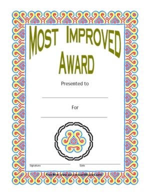 Most Improved Award - One