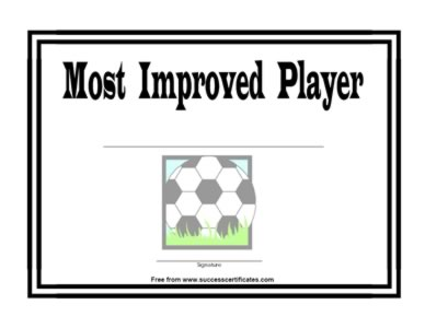 most improved player certificate one certificate templates
