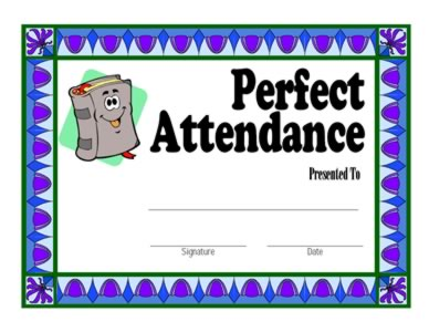Certificate for Attendance – One