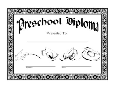 Preschool Diploma Certificate - Two