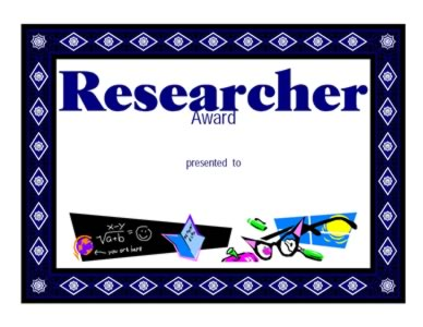 Award for Research - One