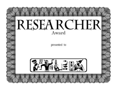 Award for Research - Three