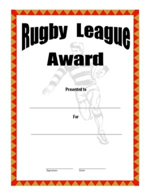 Certificate of achievement in rugby two certificate templates certificate of achievement in rugby two get this certificate template yadclub Image collections