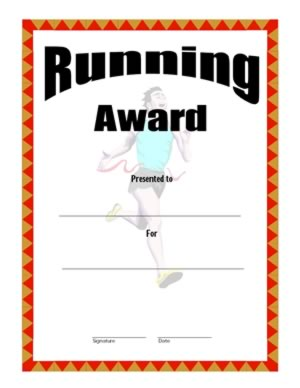 running certificates templates free 28 images 5