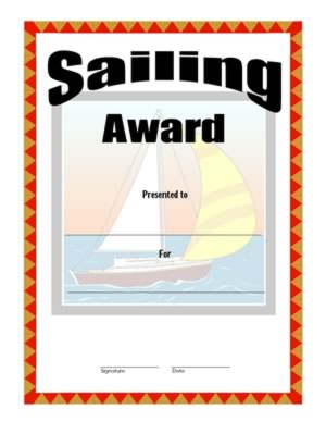 Sailing Award Certificate - Two