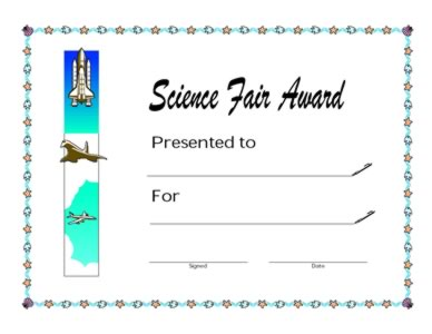 Science Fair Award-Winner Of The Science Fair-Two | Success ...