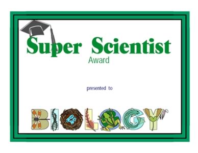 Award For Super Scientist  - One