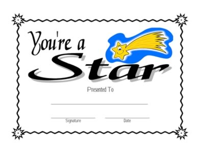 You Are A Star Certificate Two Success Certificates