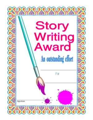 Story writing certificate 1 certificate templates teachers certificate of achievement in story writing one yelopaper Gallery