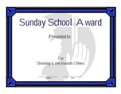 sunday school award