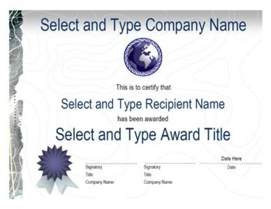 blue ribbon logo blue emblem certificate template one certificate