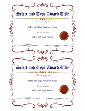 Spikey Red Border With Brown Emblem Template Pair