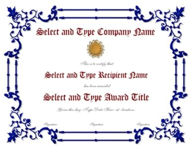 Blue Spikey border With Gold Emblem Template-One