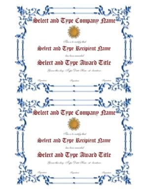 Blue Spikey border With Gold Emblem Template Pair-Two